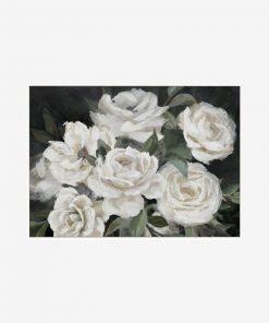 White Blooms Framed