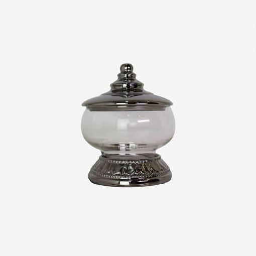 silver base stem Jar 23CM